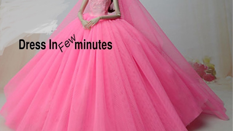 DIY Barbie Dresses Making Easy Clothes for Barbies Creative Fun