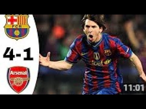 Barcelona vs Arsenal 4 1 Champion League 2010