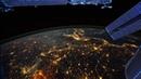 Замедленная съемка Земли, вид из космоса.
