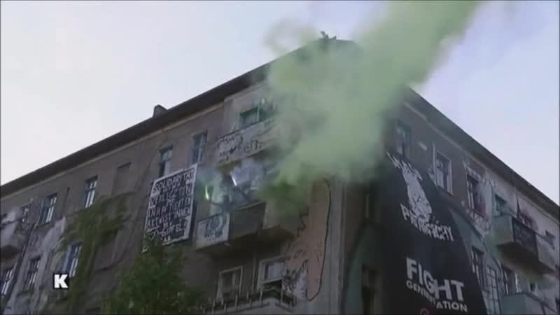 Rechtsfreier Raum für Antifa Terroristen in der Rigaer 94 in Berlin