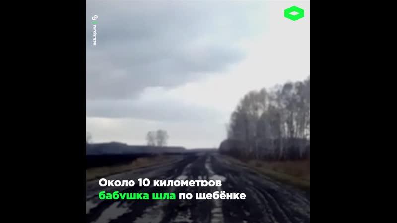 В Новосибирской области пенсионерка Надежда Ходчикова чуть не утонула в грязи д