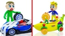 TOY CAR FRUIT VEHICLE 💟 One Two Three Four Five