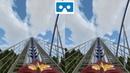 Roller Coaster 30 3D Side by Side VR box google cardboard