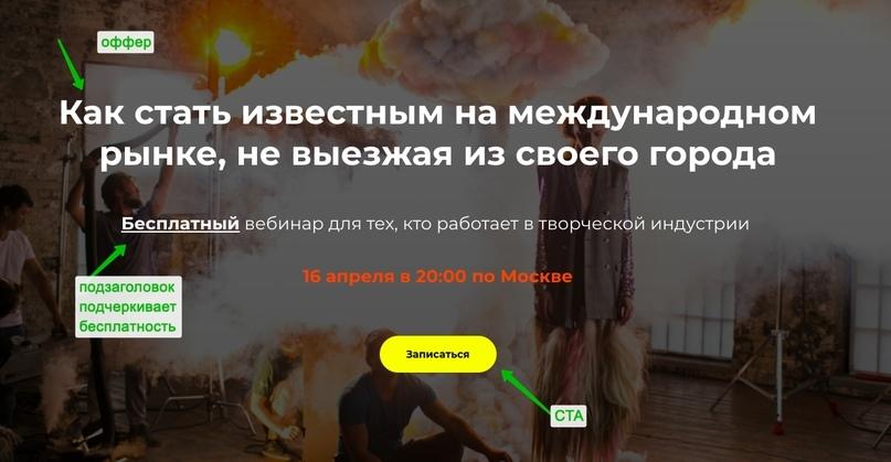 3763 лидов по 13 рублей для вебинара режиссера из Лондона за 12 дней, изображение №2