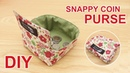 DIY Snappy Coin Purse 귀요미 초간단 동전지갑 How to sew a coin purse easily sewingtimes