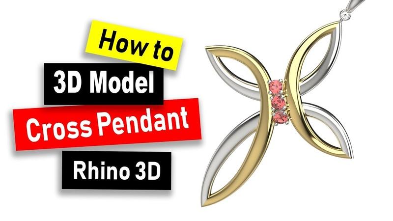 Cross Pendant CAD Modeling in Rhino 6: Jewelry CAD Design Tutorial 82