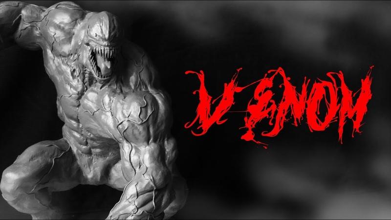 Sculpting Venom / Веном - лепка персонажа , скульптура из пластилина / Marvel