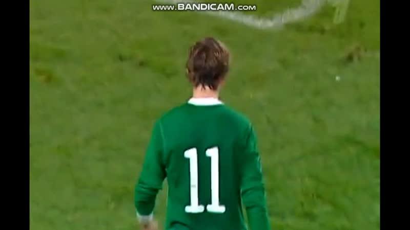 Ireland Russia Q Euro 2012 Aiden Mcgeady vs Alexsandr Anyukov