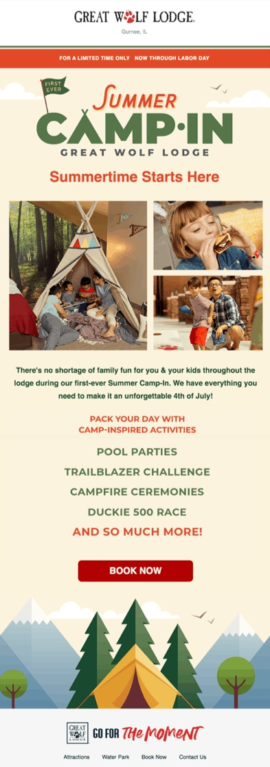 Лето начинается здесь.Здесь ничто не помешает вашему семейному отдыху — у нас есть все, чтобы вы и ваши дети провели незабываемый праздник 4 июляШирокий выбор активностей