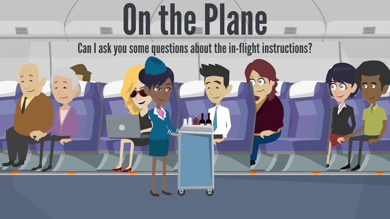 At the Airport On the Plane | Daily English Conversation | Learn English in Hamza's Classroom