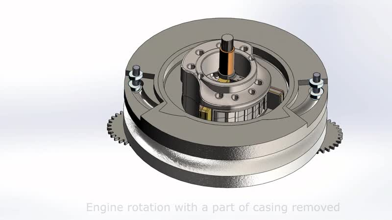 New generation rotary engine with gear driven camshafts