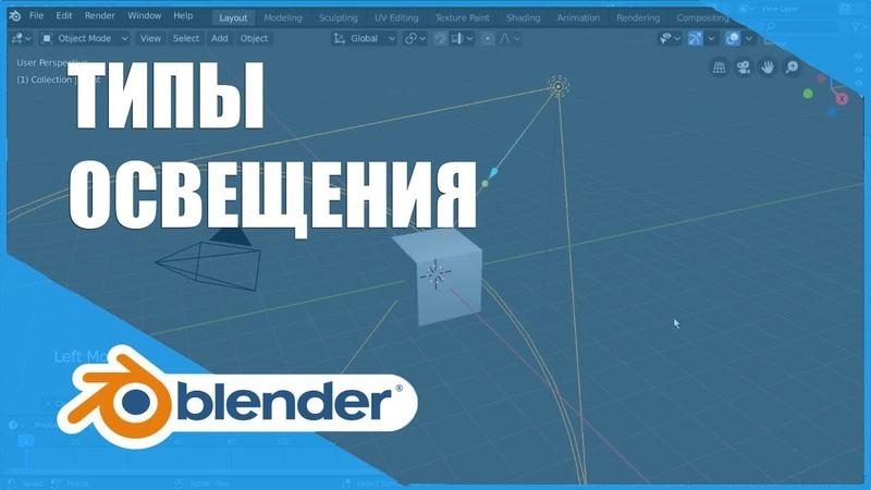 Типы освещения | Основы Blender 2.80