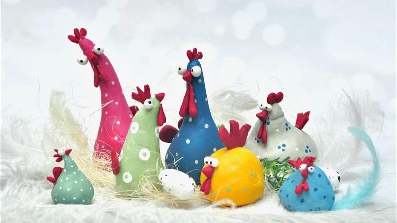 Wielkanocne kurczaczki z masy samoutwardzalnej DIY tutorial