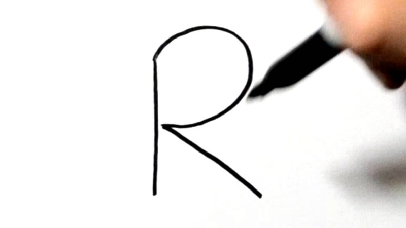 How to Draw a Rabbit After Writing Letter R LetterToons