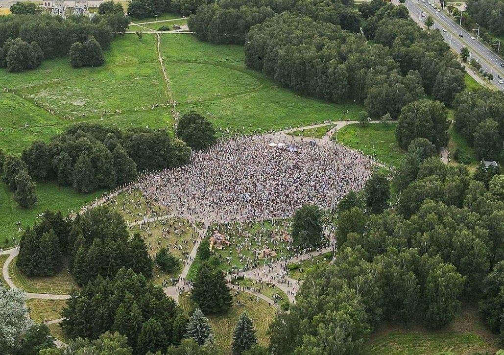 Сколько людей пришло на пикет Тихановской в Минске. Фотофакт