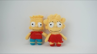 Bart y Lisa Simpson amigurumi tutorial