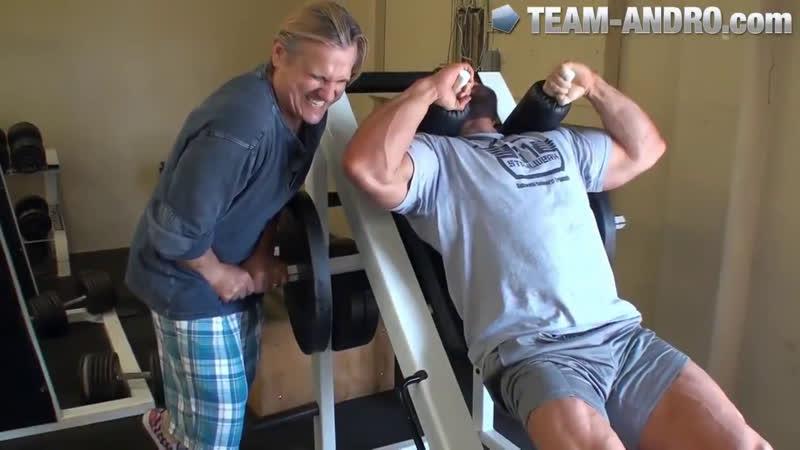 Tom Platz and The Hoff — Legendary leg day — bodybuilding