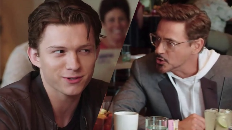 Tom Holland's screen tests with Robert Downey Jr Spider Man Iron Man
