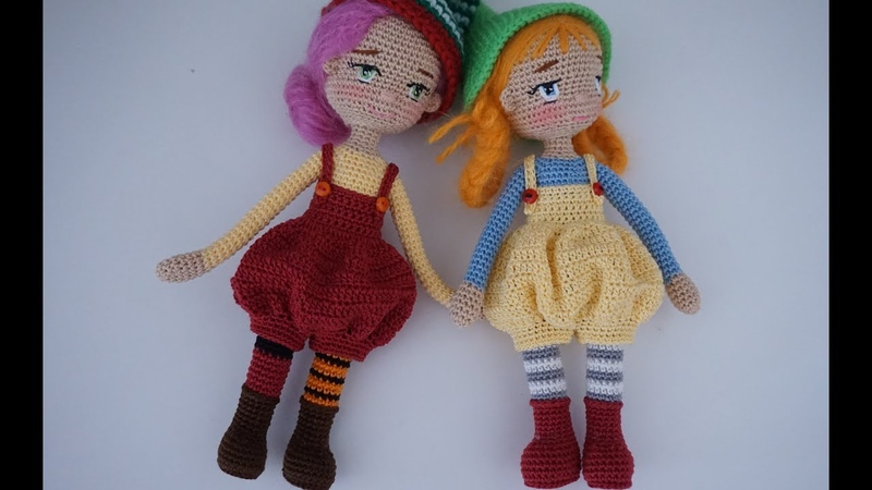How to crochet small size doll overalls miniature doll clothes