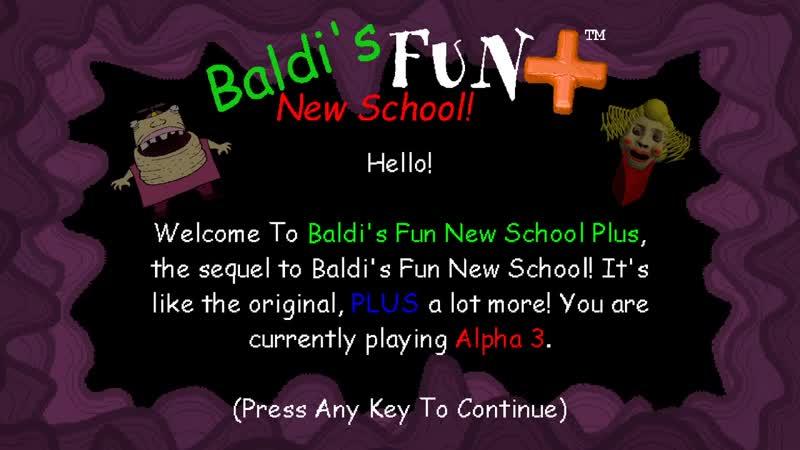 НОВАЯ ИГРА ПРО БАЛДИ И НОВЫЕ ПЕРСОНАЖИ ДЕЛАЮ КОНЦОВКУ Baldis Fun New School Plu