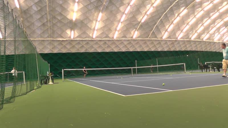 Теннис часть 2 регулярная тренировка