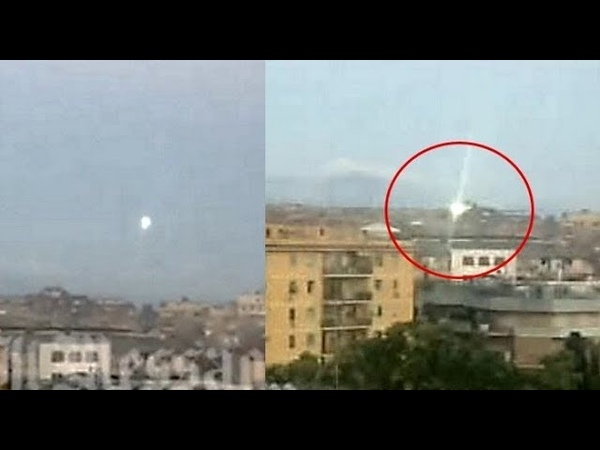 Spectacular UFO sighting in Rome, Italy