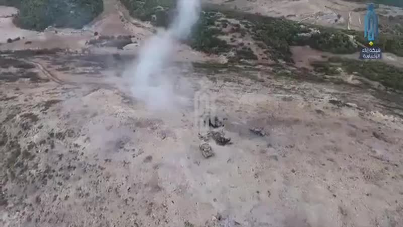 Drone video released from Kabani, Latakia. Regime forces have apparently lost two tanks and a bulldozer attempting to