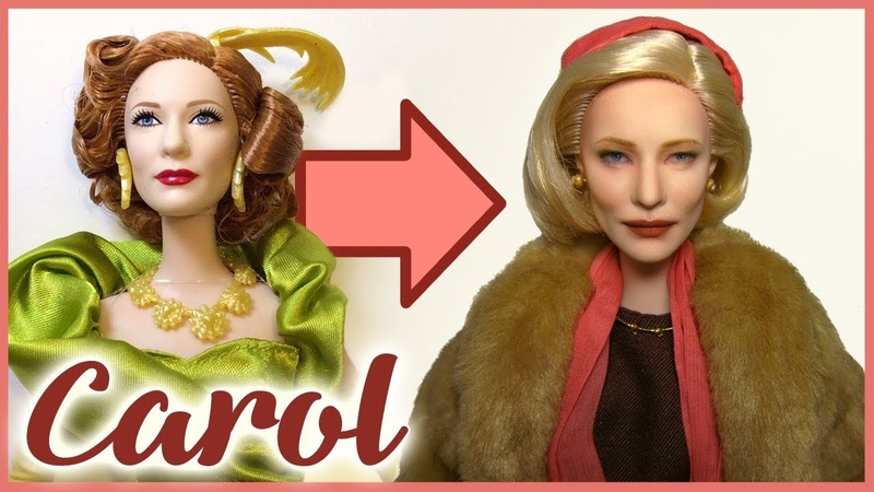 CAROL ~ Cate Blanchett Doll Repaint 🧤 Early 1950s hairstyle and clothes!