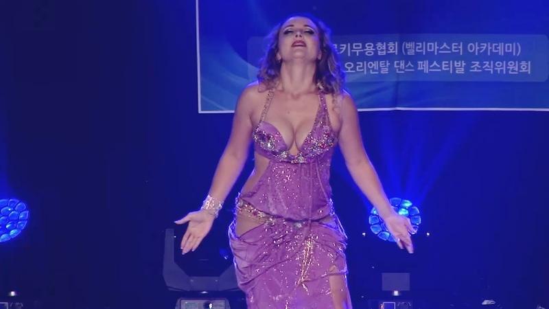 Bellydance Kathreen Derouet Mejanse Drum solo Korea 2018