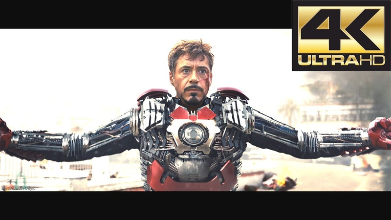 Tony Stark Suit MARK 5 and First Battle Iron Man 2 2010 UHD 4K