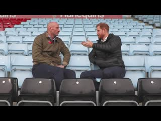 Duke of sussex joins rugby star gareth thomas to raise hiv awareness