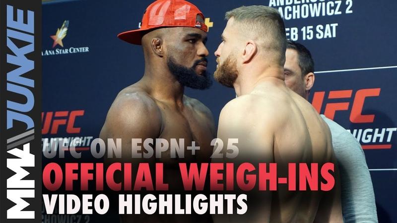 UFC on ESPN 25 official weigh-in faceoffs