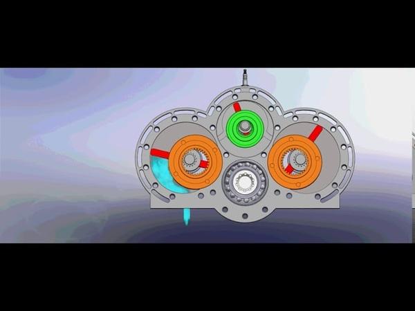 Роторно - лопастной двигатель внутреннего сгорания