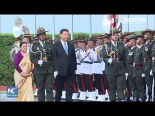 Си Цзиньпин прибыл с государственным визитом в Непал.