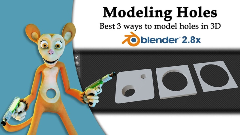 3 ways to model circular holes in 3D