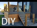 DIY How to build a modern designer deck with floating glass and composite decking Luxus Homes
