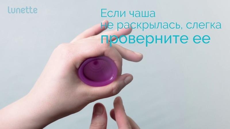Как использовать менструальную чашу Lunette