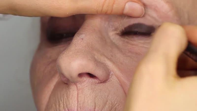 Макияж 60 Возрастной вечерний макияж Смоки для возрастной клиентки