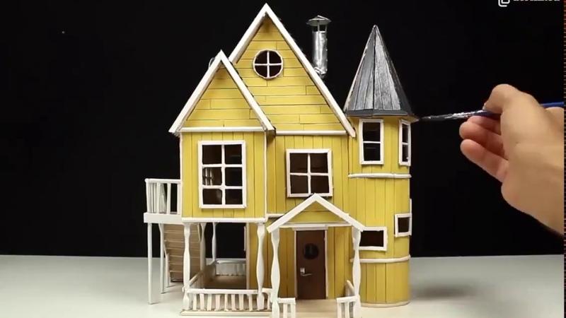 Деревянный домик своими руками из палочек для мороженного
