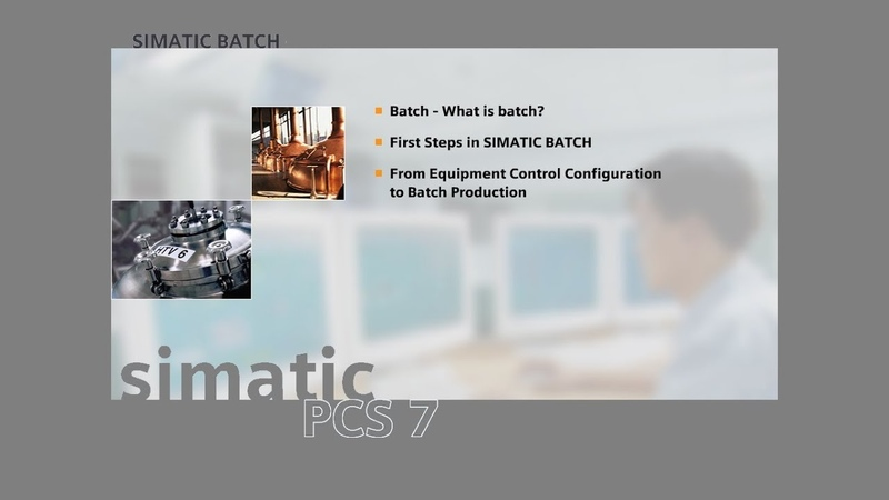 17 - SIMATIC BATCH - Creation of an Equipment Phase 1 of 2