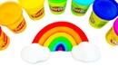 РАДУГА из Пластилина Лепим из Плей До Развивающее видео с игрушками Игрушкин Мир