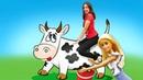 Я нехочу вшколу! Куклы проходят практику наферме. Барби доит корову! Видео КУКЛЫ