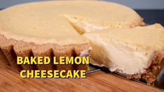 Cooking with Cream Cheese: Baked Lemon Cheesecake