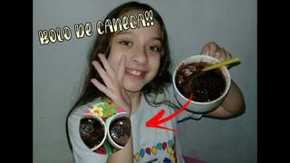 Bolo de caneca - sabor chocolate - Sara Machado #saramachado