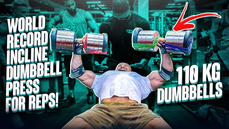 WORLD RECORD INCLINE DUMBBELL PRESS FOR REPS!