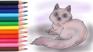 Алфавит для детей учим буквы весело мультики для детей как нарисовать кошку алфавит простые слова