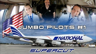 U.S. JUMBO PILOTS Part 1 National Airlines B747: Pilots Casie & Enrique to Tokyo SUPERCUT [AIRCLIPS]