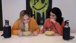 Noodles Mukbang w/Jazmine Garcia   TEA on how we became friends, fling w/celeb crush & more!