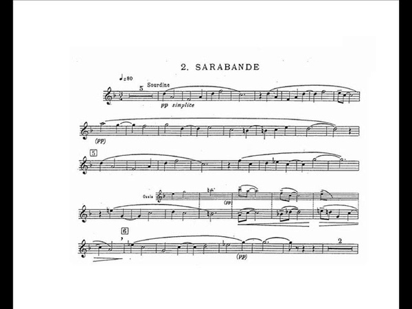 Jean Francaix Sonatine Eric Aubier trumpet II