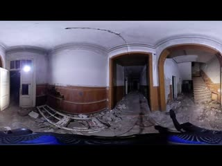 Сергей Каменецкий :4K VR 360 Заброшенная усадьба барона.Оставил камеру 360 на ночь в жуткой заброшке от .